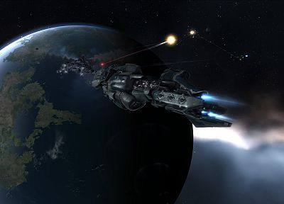 video games, outer space, planets, EVE Online, Drake, Proteus - random desktop wallpaper