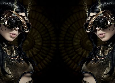 leather, steampunk, goggles, ophelia, victorian - random desktop wallpaper