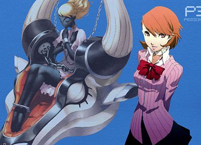 Persona series, Persona 3, simple background, Takeba Yukari - random desktop wallpaper