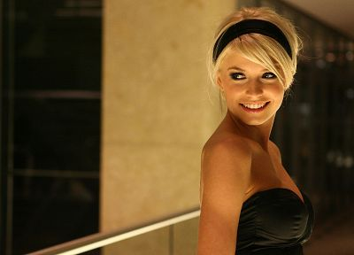 blondes, women, Lena Gercke, headbands - related desktop wallpaper
