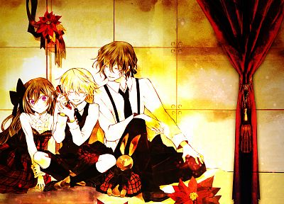 brunettes, blondes, Pandora Hearts, anime, anime boys, Gilbert Nightray, Oz Vessalius, Alice (Pandora Hearts), anime girls - related desktop wallpaper