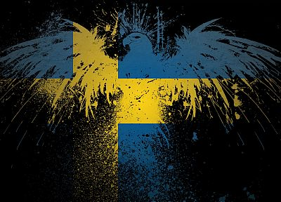 Sweden, eagles, flags - related desktop wallpaper