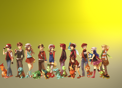 Pokemon, Bulbasaur, Squirtle, Charmander - related desktop wallpaper