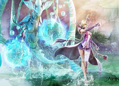 video games, Aion, artwork, MMORPG - related desktop wallpaper