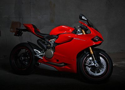 women, red, superbike, Ducati, motorbikes, riding, Ducati 1199 - random desktop wallpaper