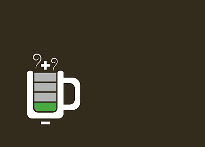 coffee, battery, vector art - random desktop wallpaper