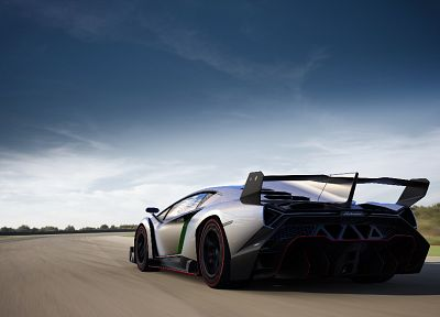 cars, Lamborghini, vehicles, supercars, italian cars, rear angle view, hypercars, Lamborghini Veneno - desktop wallpaper