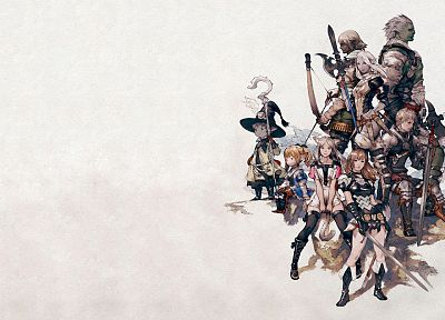 Final Fantasy XIV, simple background, white background - random desktop wallpaper