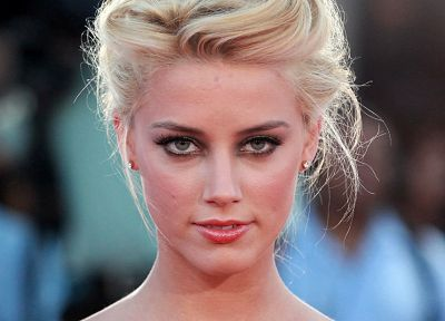 blondes, women, green eyes, Amber Heard - desktop wallpaper