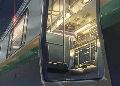 snow, trains, Makoto Shinkai, 5 Centimeters Per Second, vehicles - related desktop wallpaper