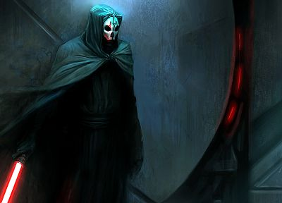 Star Wars, lightsabers, Sith, artwork, Knights of the Old Republic, Darth Nihilus - related desktop wallpaper