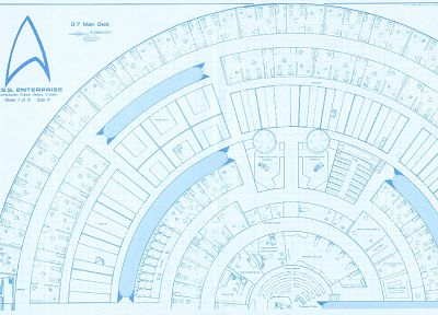 Star Trek, blueprints, spaceships, vehicles, USS Enterprise, Star Trek logos, Star Trek schematics - desktop wallpaper