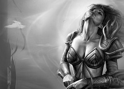 fantasy art, Neverwinter Nights, Aribeth - random desktop wallpaper