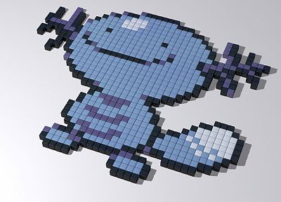 Pokemon, Wooper, 8-bit - random desktop wallpaper
