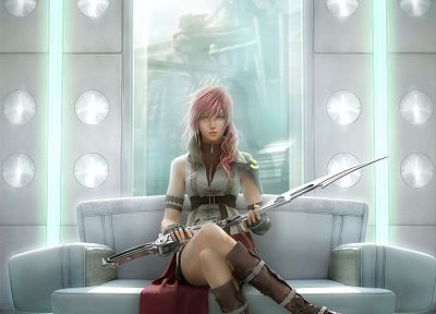 Final Fantasy XIII, Claire Farron, Square Enix, games - random desktop wallpaper