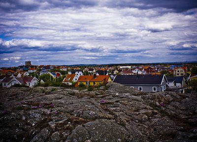 skylines, Sweden, houses, villages - random desktop wallpaper