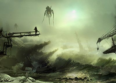 water, fantasy, death, Chaos, destruction, apocalypse, science fiction, artwork - related desktop wallpaper