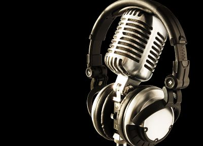 headphones, music, microphones - related desktop wallpaper