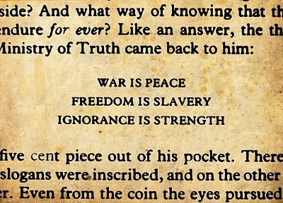 quotes, 1984, George Orwell - random desktop wallpaper