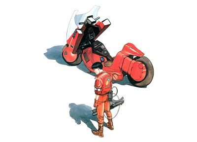 Akira, artwork, motorbikes - random desktop wallpaper