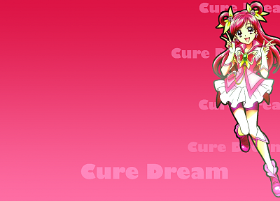 Pretty Cure, simple background, Cure Dream - random desktop wallpaper
