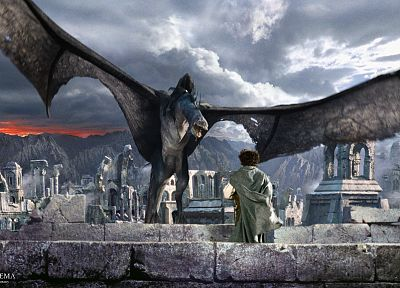 The Lord of the Rings, nazgul, Osgiliath, The Two Towers, Frodo Baggins - random desktop wallpaper
