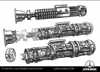 Star Wars, lightsabers, artwork - random desktop wallpaper