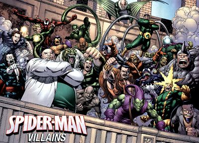black, comics, Venom, Spider-Man, lizards, Sandman, rhinoceros, Marvel Comics, Doctor Octopus, Green Goblin, Vulture - related desktop wallpaper