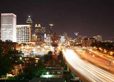 cityscapes, Georgia, buildings, Atlanta, city lights, long exposure, cities - desktop wallpaper