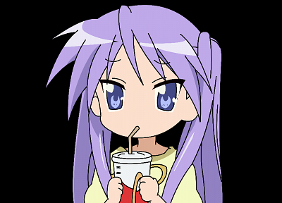 Lucky Star, Hiiragi Kagami, purple hair, pigtails, twintails, anime, purple eyes, anime girls - related desktop wallpaper