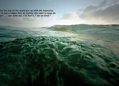 water, ocean, quotes - desktop wallpaper