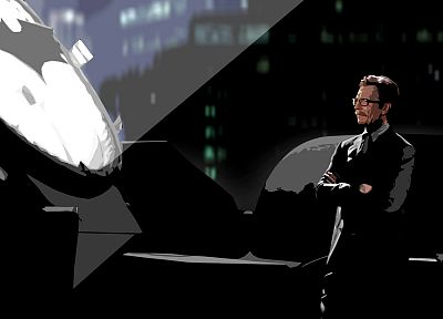 Batman, Gary Oldman, The Dark Knight, Batman Logo, Commissioner Gordon - random desktop wallpaper