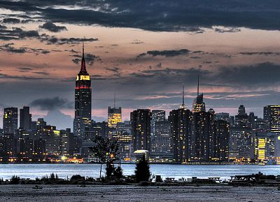 clouds, cityscapes, buildings, New York City, skyscrapers, Empire State Building - random desktop wallpaper