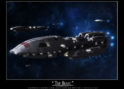 outer space, Battlestar Galactica, spaceships, science fiction, Battlestar Pegasus - desktop wallpaper