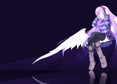 wings, anime girls, original characters - random desktop wallpaper