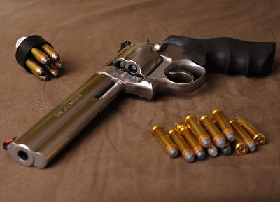 pistols, guns, Magnum, revolvers, weapons, ammunition, bullets, Smith and Wesson, Smith - random desktop wallpaper