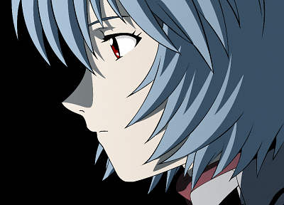 women, Ayanami Rei, Neon Genesis Evangelion, blue hair, transparent, anime girls, anime vectors - desktop wallpaper
