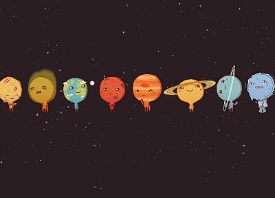 minimalistic, Solar System, planets, little, simple background - related desktop wallpaper