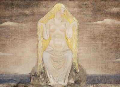 long hair, Freya, Goddess, Norse, John Bauer - random desktop wallpaper