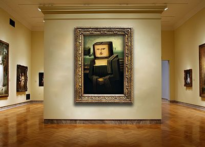 Mona Lisa, Minecraft - random desktop wallpaper