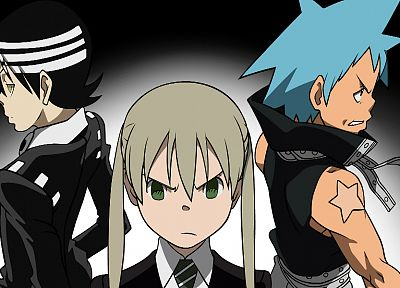 Soul Eater, Black Star, Death The Kid, Albarn Maka - related desktop wallpaper