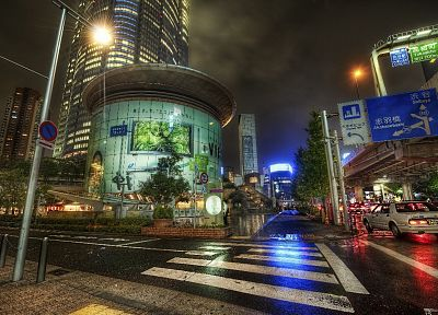 Japan, Tokyo, cityscapes, night, lights, cars, roads, Roppongi, Roppongi Hills - desktop wallpaper