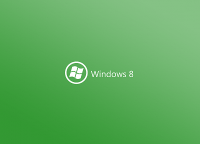green, minimalistic, DeviantART, Windows 8 - related desktop wallpaper