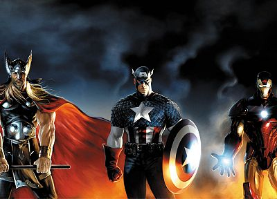 Iron Man, Thor, Captain America, Marvel Comics - related desktop wallpaper