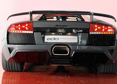 cars, vehicles, Lamborghini Murcielago, backview cars - random desktop wallpaper