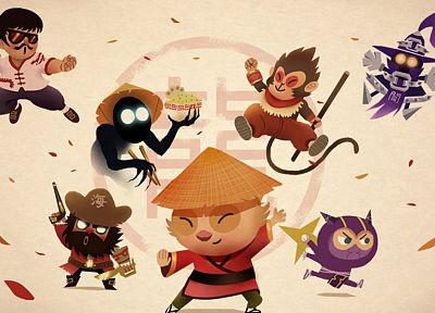 League of Legends, Veigar, Teemo, Nocturne, Gangplank, Lee Sin, Kennen, Wukong - related desktop wallpaper