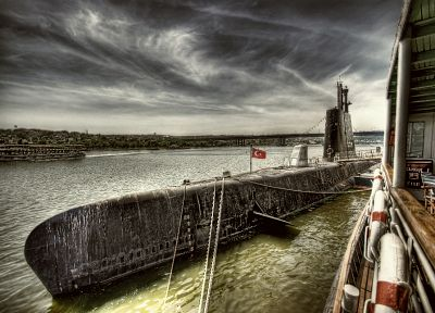 submarine, Turkey, Istanbul, HDR photography - random desktop wallpaper
