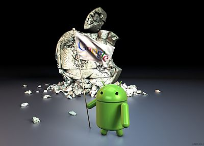 Android, conquer, Google, apples - random desktop wallpaper