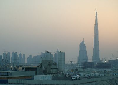 cityscapes, architecture, buildings, Dubai, industrial plants, city skyline, Burj Khalifa - related desktop wallpaper