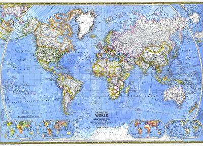 National Geographic, world map - random desktop wallpaper